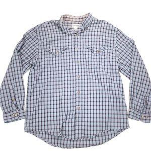 Carhartt Men's long sleeved plaid Button up